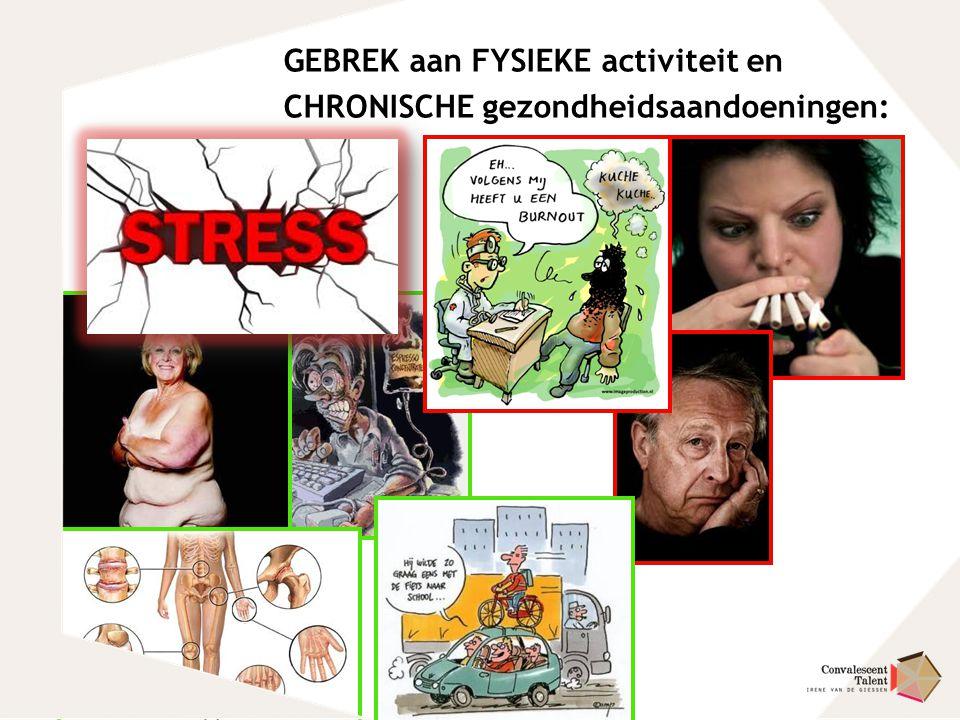 GEBREK aan FYSIEKE activiteit en CHRONISCHE gezondheidsaandoeningen: