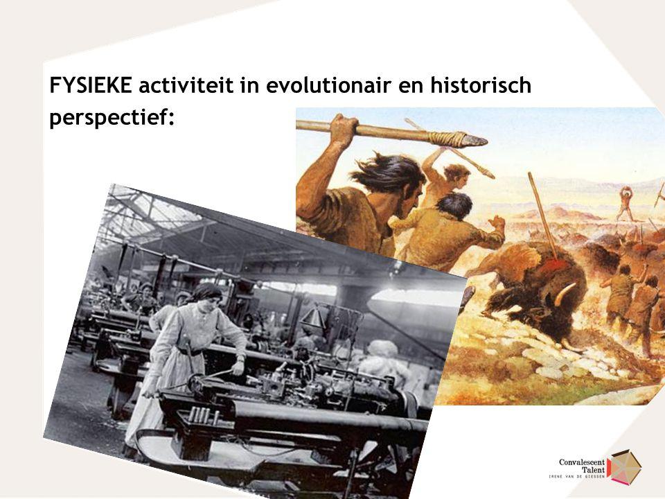 FYSIEKE activiteit in evolutionair en historisch perspectief:
