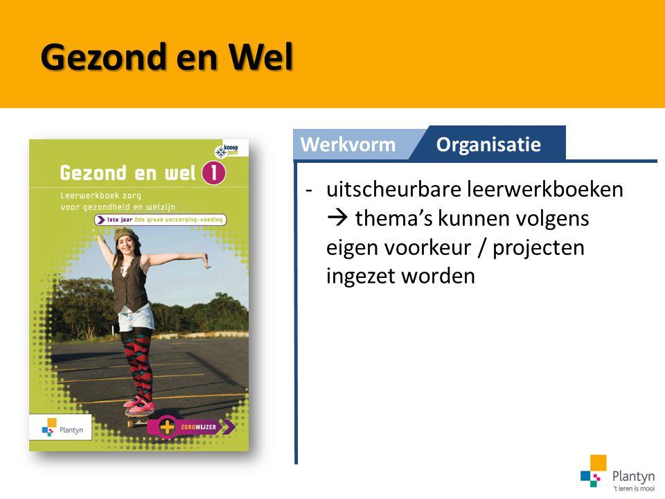 WerkvormOrganisatie Gezond en Wel -uitscheurbare leerwerkboeken  thema's kunnen volgens eigen voorkeur / projecten ingezet worden