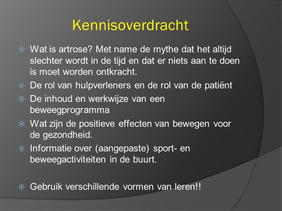 Kennisoverdracht  Wat is artrose.