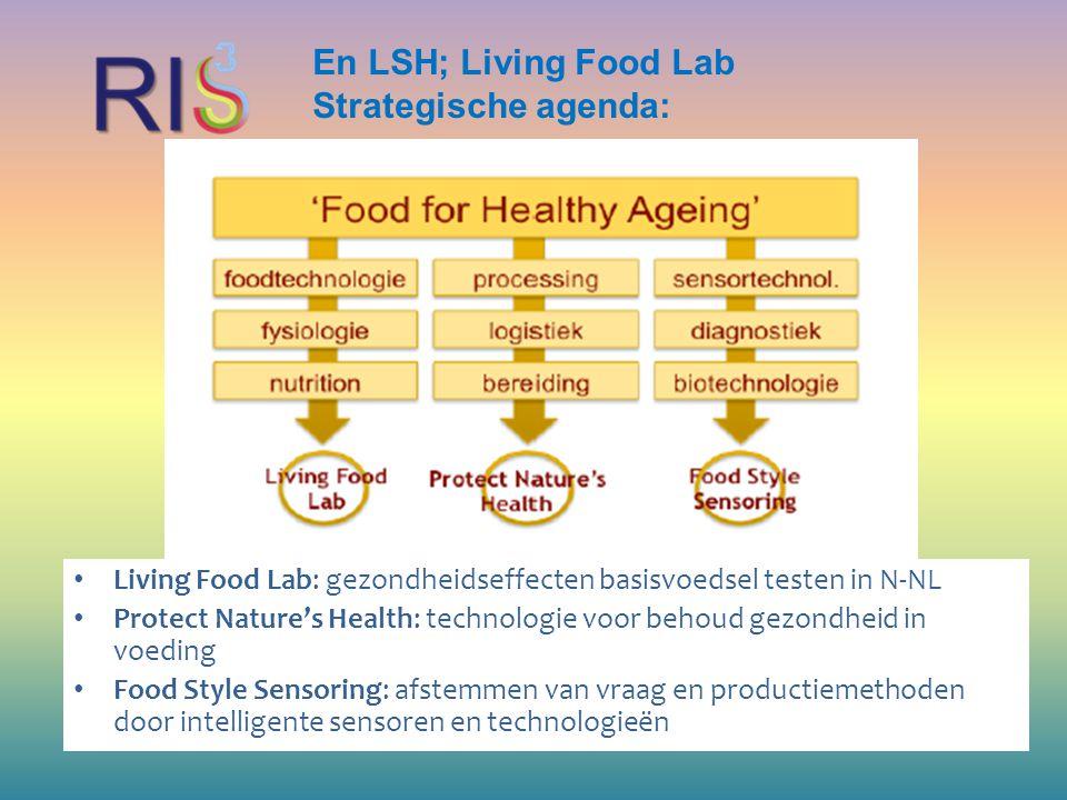 En LSH; Living Food Lab Strategische agenda: Living Food Lab: gezondheidseffecten basisvoedsel testen in N-NL Protect Nature's Health: technologie voo