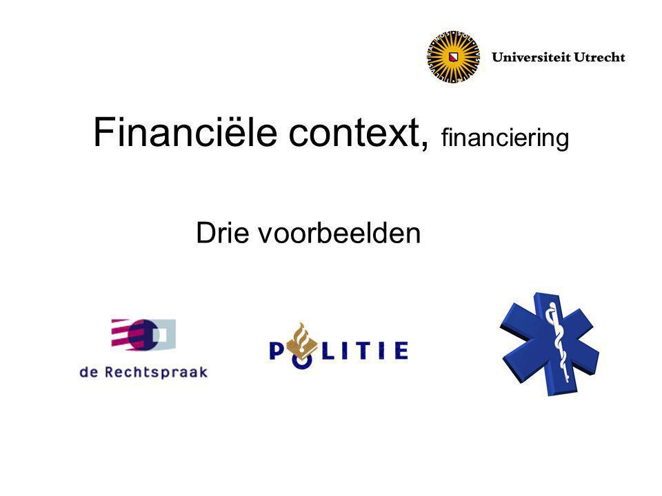 Financiële context, financiering Drie voorbeelden