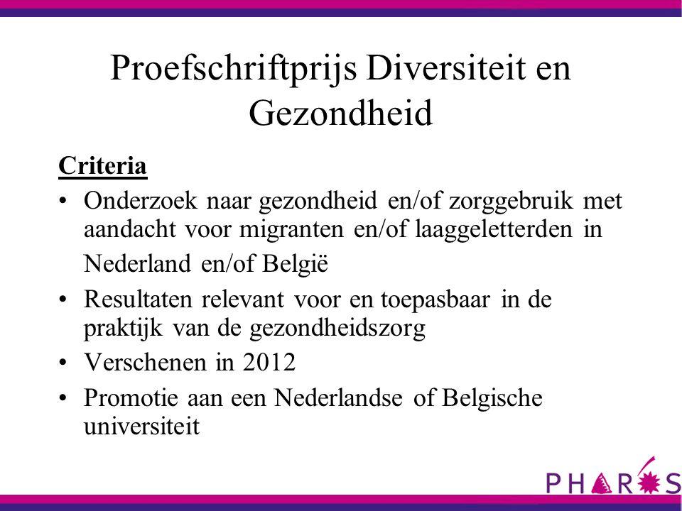 Proefschriften op het terrein van diversiteit en gezondheid in 2012 Ytje van der Veen Cultural tailoring for the promotion of Hepatitis B screening in Turkish migrants.
