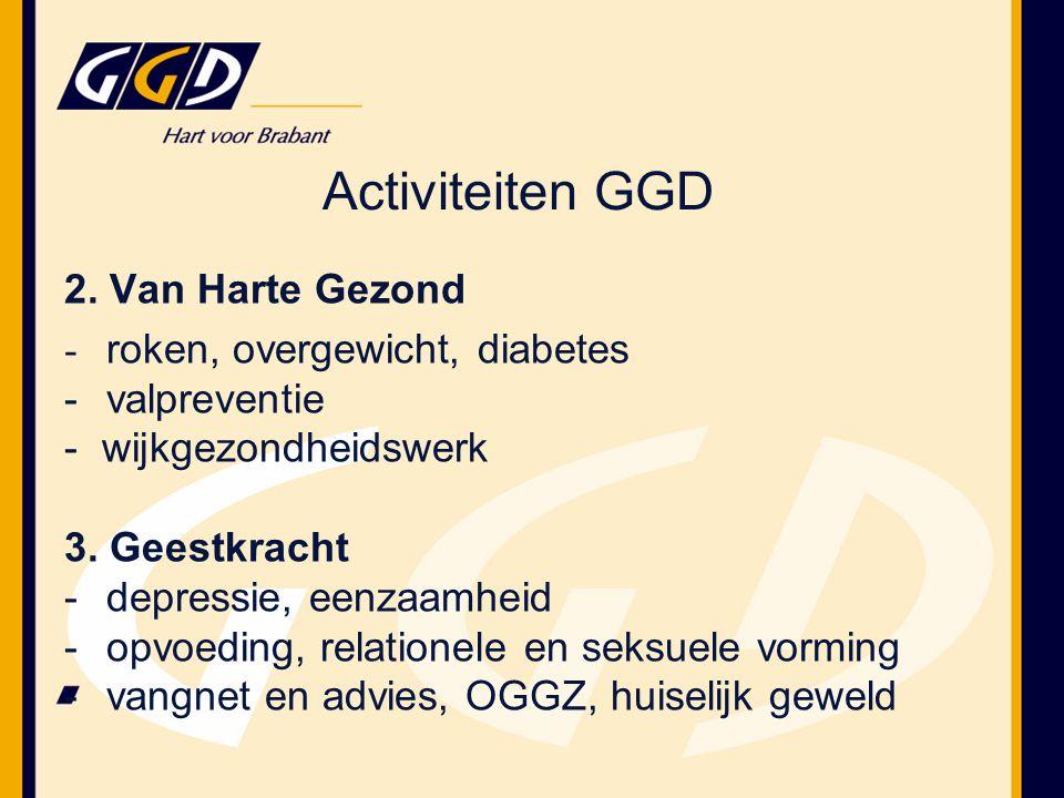 2. Van Harte Gezond - roken, overgewicht, diabetes -valpreventie - wijkgezondheidswerk 3.