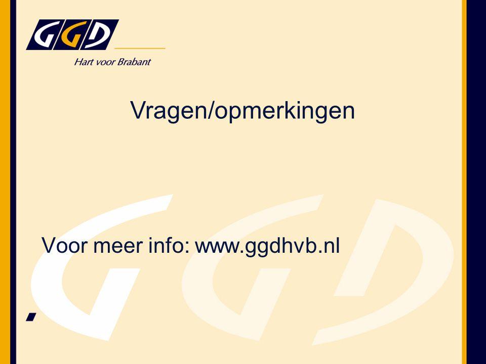 Voor meer info: www.ggdhvb.nl Vragen/opmerkingen