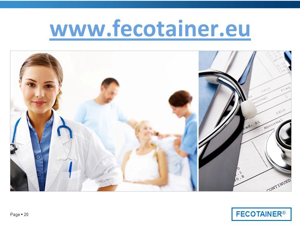 FECOTAINER ® Page  20 www.fecotainer.eu