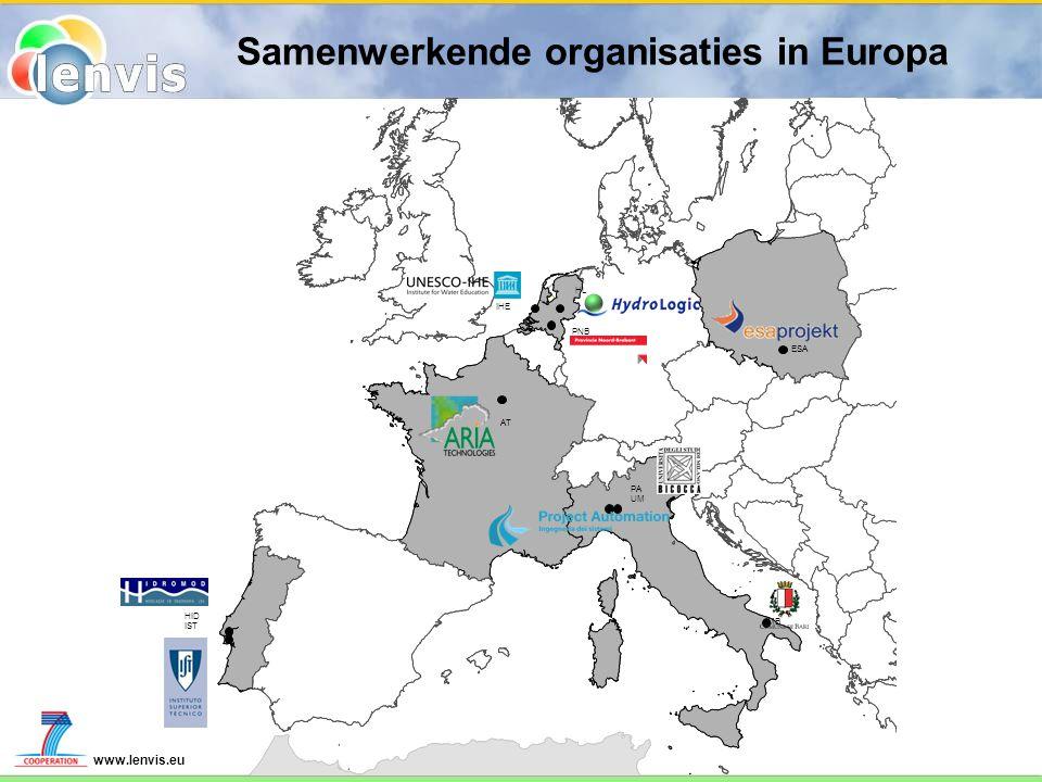 www.lenvis.eu Samenwerkende organisaties in Europa AT HID IST HL PA UM MB PNB ESA IHE