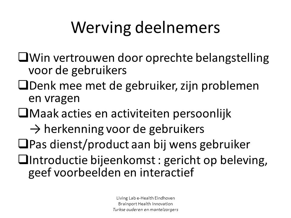 Beeldbellen Living Lab e-Health Eindhoven Brainport Health Innovation Turkse ouderen en mantelzorgers