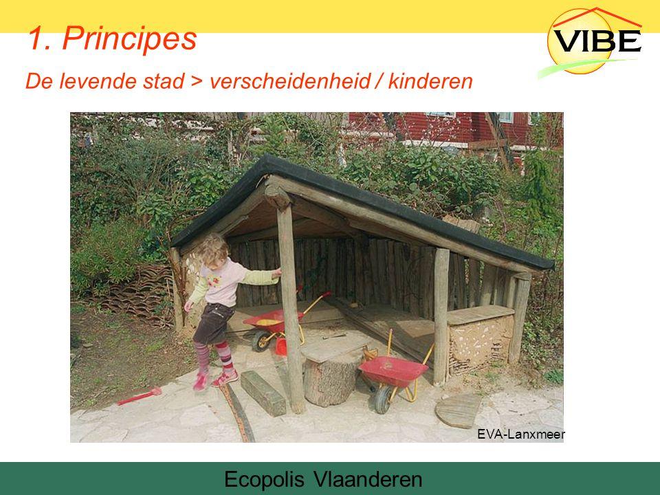 Ecopolis Vlaanderen EVA-Lanxmeer 1. Principes De levende stad > verscheidenheid / kinderen
