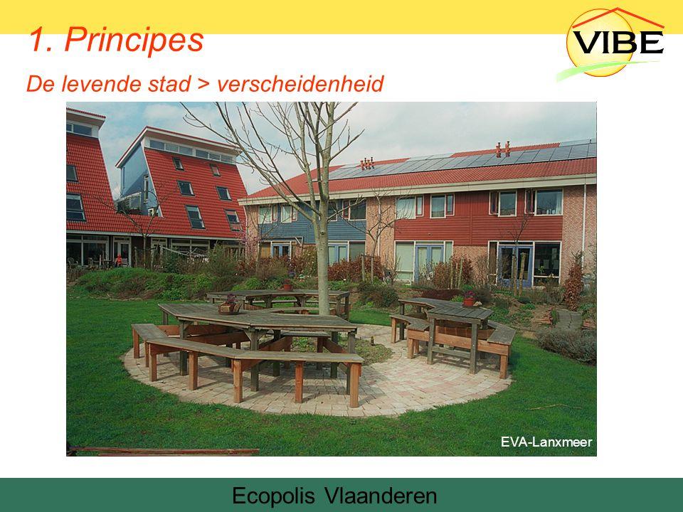 Ecopolis Vlaanderen EVA-Lanxmeer 1. Principes De levende stad > verscheidenheid