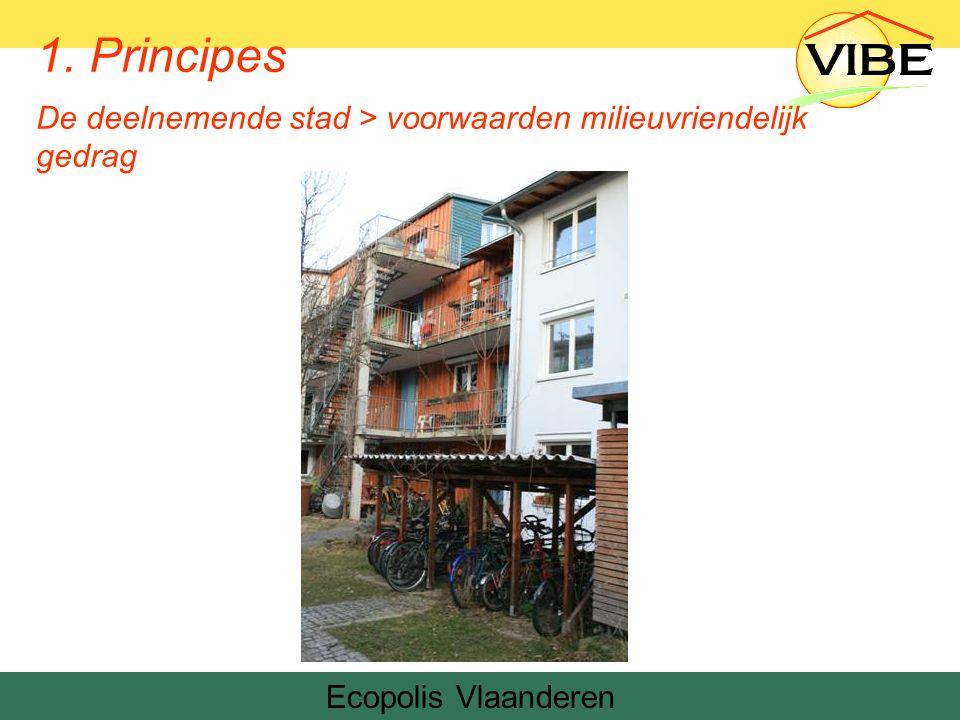 Ecopolis Vlaanderen 1. Principes De deelnemende stad > voorwaarden milieuvriendelijk gedrag