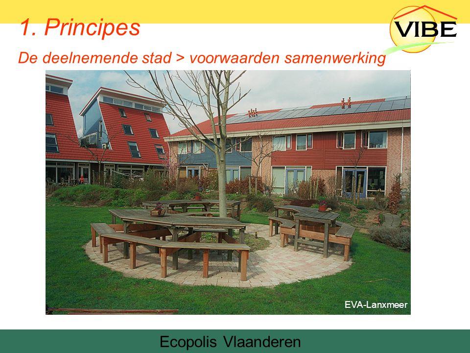 Ecopolis Vlaanderen EVA-Lanxmeer 1. Principes De deelnemende stad > voorwaarden samenwerking