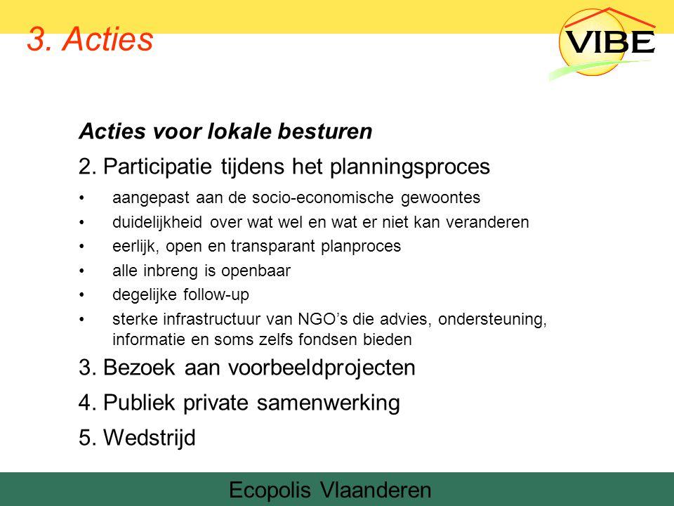 Ecopolis Vlaanderen Denemarken 3. Acties Acties voor lokale besturen 2.