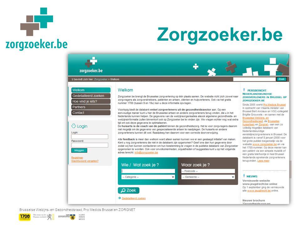 Brusselse Welzijns- en Gezondheidsraad, Pro Medicis Brussel en ZORGNET Vakadvertentie NL