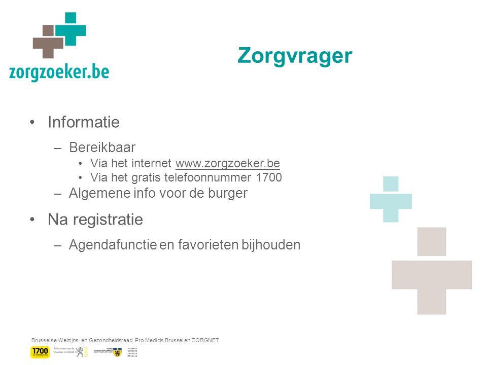 Brusselse Welzijns- en Gezondheidsraad, Pro Medicis Brussel en ZORGNET Flyer