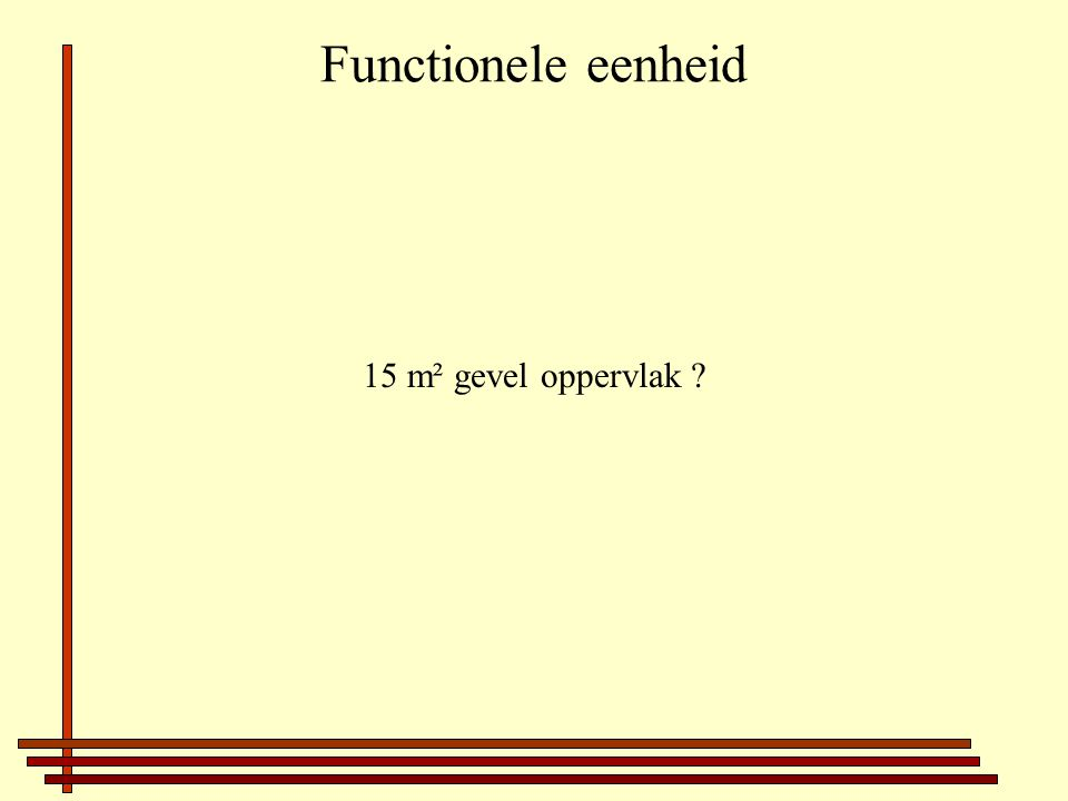 Functionele eenheid 15 m² gevel oppervlak