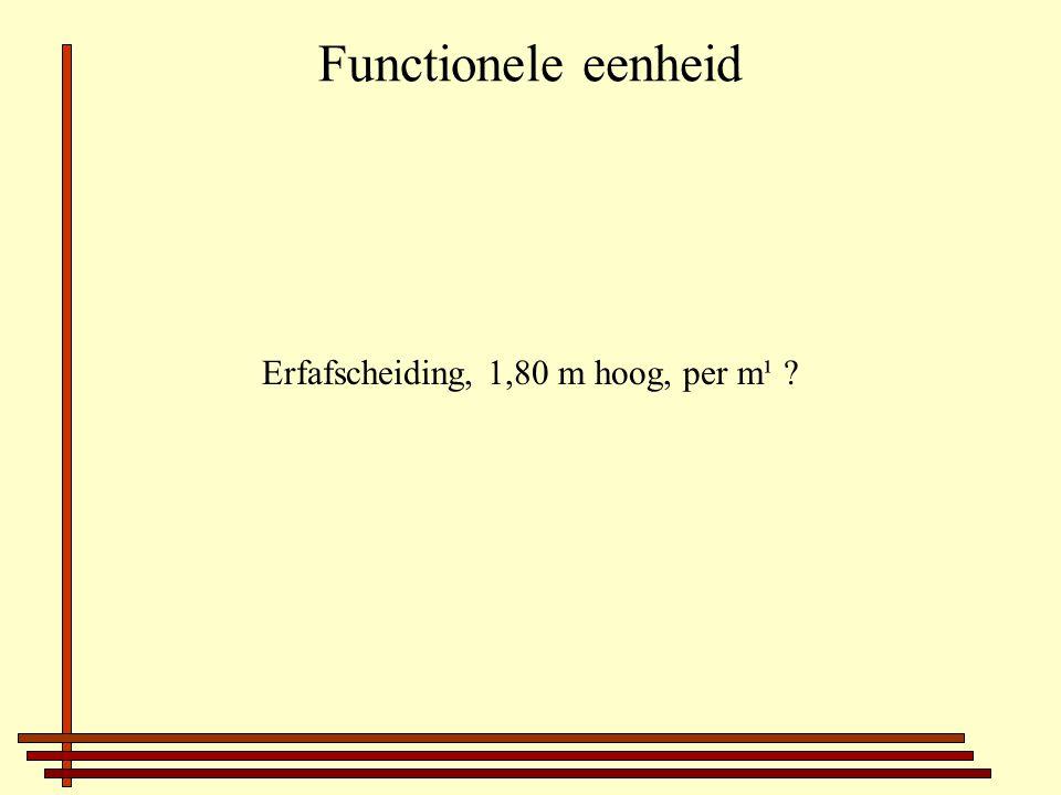 Functionele eenheid Erfafscheiding, 1,80 m hoog, per m¹