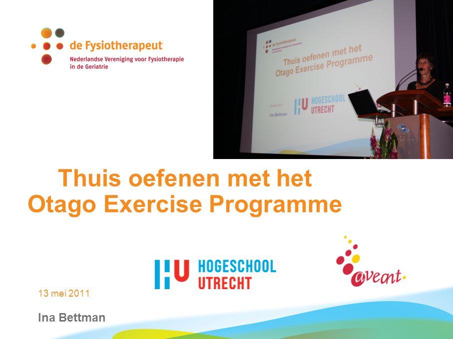 Resultaten review: vallen 13 mei 2011 thuis oefenen met het Otago Exercise Programme