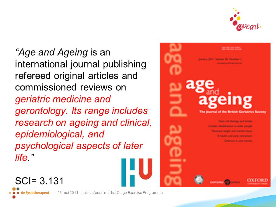 Age and Ageing is an international journal publishing refereed original articles and commissioned reviews on geriatric medicine and gerontology.