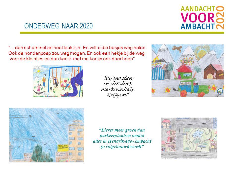 ONDERWEG NAAR 2020 Wij moeten in dit dorp merkwinkels Krijgen Liever meer groen dan parkeerplaatsen omdat alles in Hendrik-Ido-Ambacht zo volgebouwd wordt ....een schommel zal heel leuk zijn.