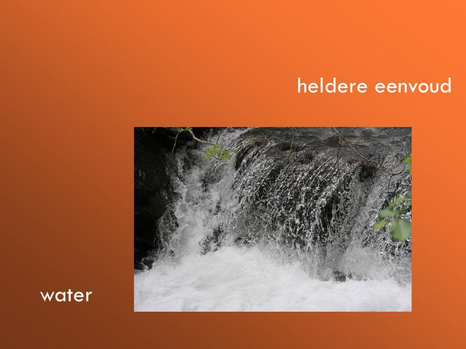 heldere eenvoud water