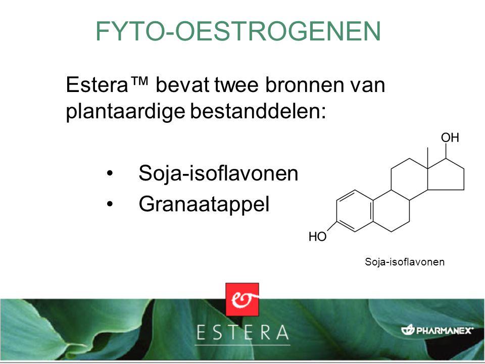 Estera™ bevat twee bronnen van plantaardige bestanddelen: Soja-isoflavonen Granaatappel FYTO-OESTROGENEN Soja-isoflavonen