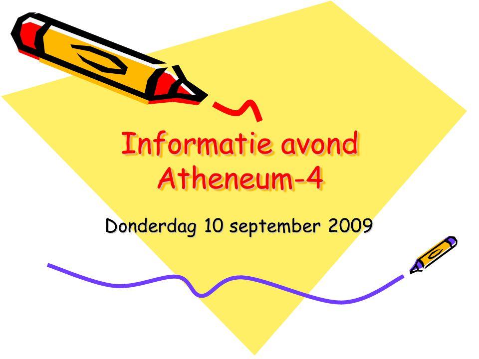 Informatie avond Atheneum-4 Donderdag 10 september 2009