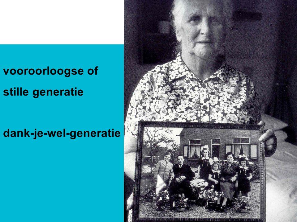 vooroorloogse of stille generatie dank-je-wel-generatie
