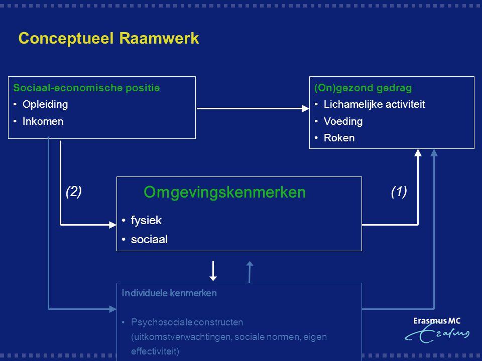 Opzet van het onderzoek 1.Focusgroep interviews 2.Systematische reviews (Brug & Van Lenthe, eds) 3.Postenquête 4.Diepte-interviews 5.Systematisch beoordelingsinstrument