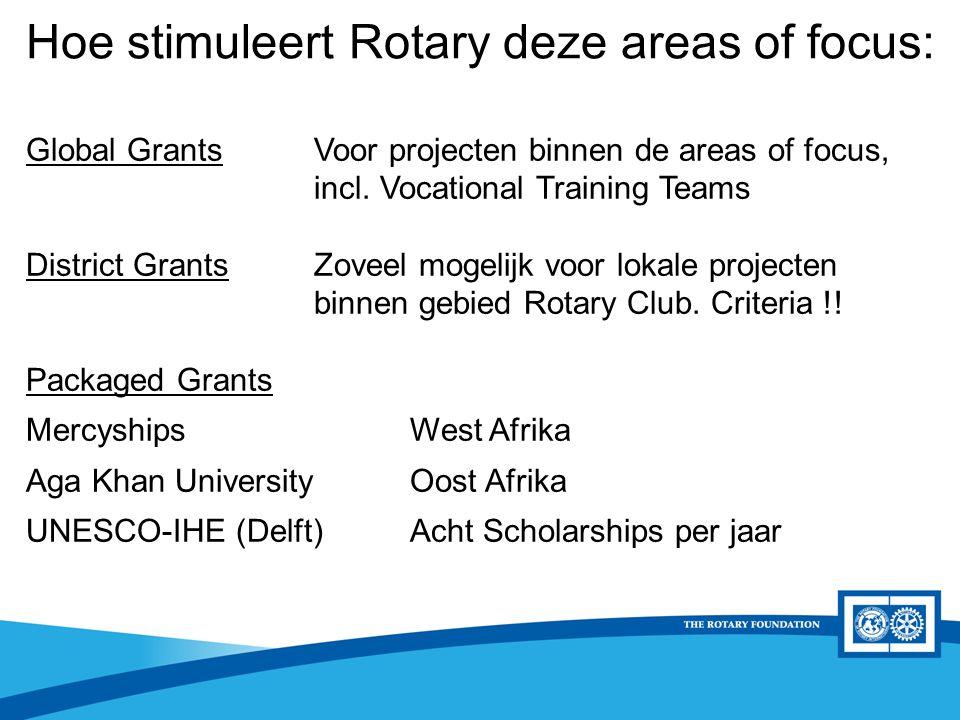 District Rotary Foundation Seminar District Grants D1560 criteria - Het project is kleinschalig < €10.000,- - Goed te realiseren - Liefst lokaal project (binnen het district) - of een internationaal project zonder internationale partnerclub - substantiële financiële inbreng van de Rc moet duidelijk zijn.