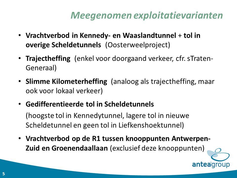 5 Vrachtverbod in Kennedy- en Waaslandtunnel + tol in overige Scheldetunnels (Oosterweelproject) Trajectheffing (enkel voor doorgaand verkeer, cfr. sT