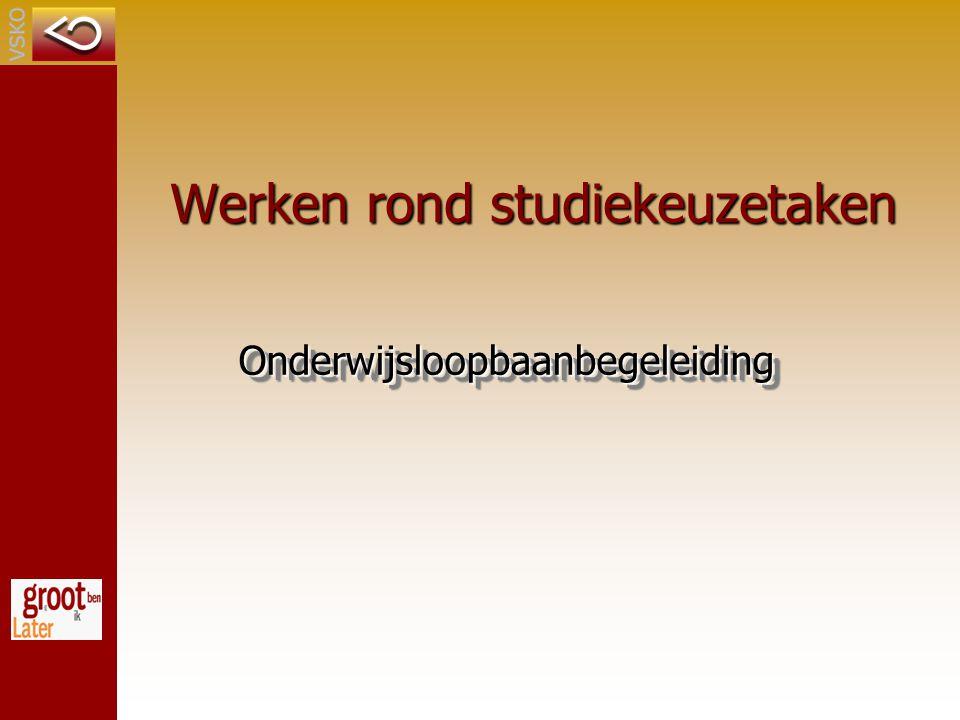Werken rond studiekeuzetaken OnderwijsloopbaanbegeleidingOnderwijsloopbaanbegeleiding
