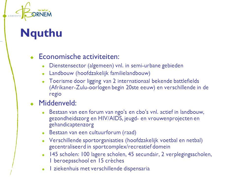 Nquthu  Economische activiteiten:  Dienstensector (algemeen) vnl.