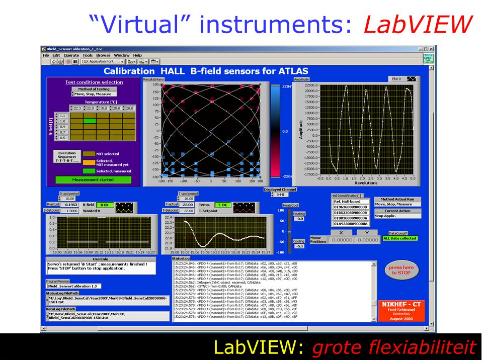 """Virtual"" instruments: LabVIEW LabVIEW: grote flexiabiliteit"