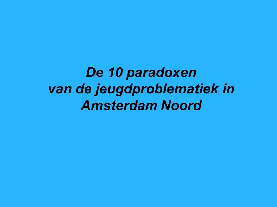 De 10 paradoxen van de jeugdproblematiek in Amsterdam Noord De Jeugdfabriek Mei 2010