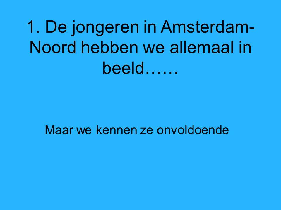 1. De jongeren in Amsterdam- Noord hebben we allemaal in beeld…… Maar we kennen ze onvoldoende