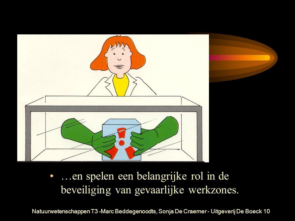 Natuurwetenschappen T3 -Marc Beddegenoodts, Sonja De Craemer - Uitgeverij De Boeck10 …en spelen een belangrijke rol in de beveiliging van gevaarlijke werkzones.