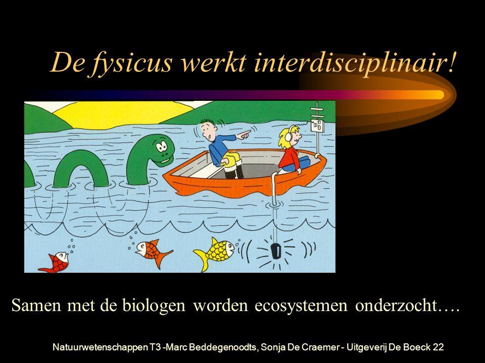Natuurwetenschappen T3 -Marc Beddegenoodts, Sonja De Craemer - Uitgeverij De Boeck22 De fysicus werkt interdisciplinair! Samen met de biologen worden