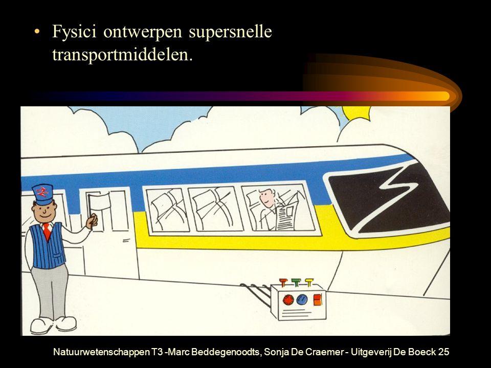 Natuurwetenschappen T3 -Marc Beddegenoodts, Sonja De Craemer - Uitgeverij De Boeck25 Fysici ontwerpen supersnelle transportmiddelen.