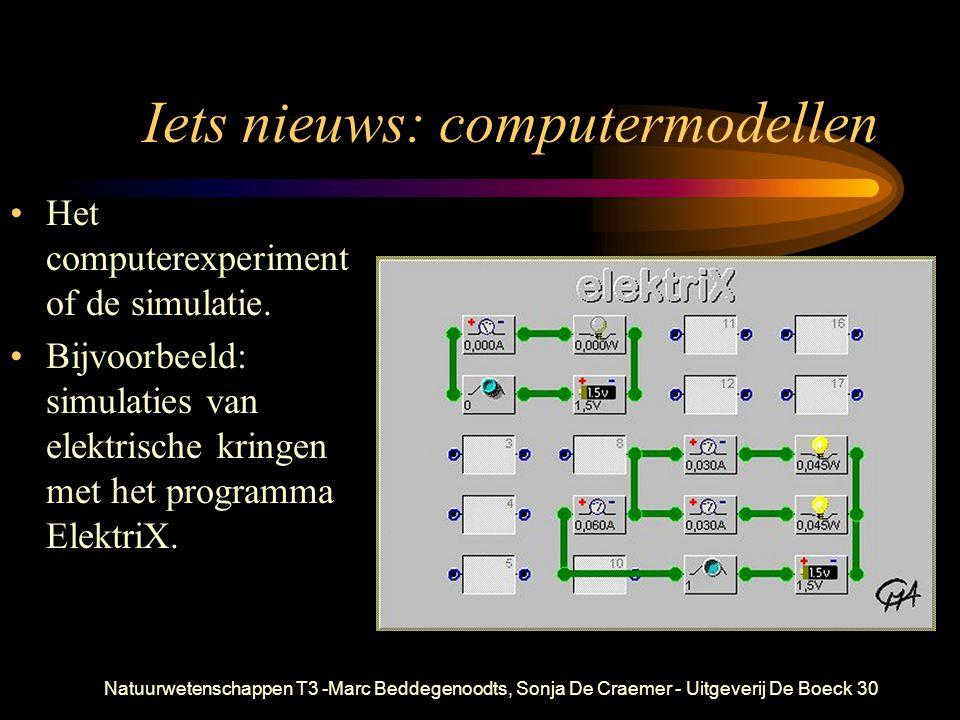 Natuurwetenschappen T3 -Marc Beddegenoodts, Sonja De Craemer - Uitgeverij De Boeck30 Iets nieuws: computermodellen Het computerexperiment of de simula