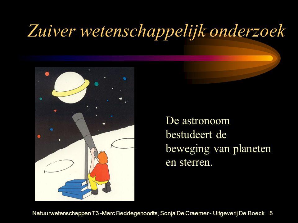Natuurwetenschappen T3 -Marc Beddegenoodts, Sonja De Craemer - Uitgeverij De Boeck5 Zuiver wetenschappelijk onderzoek De astronoom bestudeert de beweging van planeten en sterren.