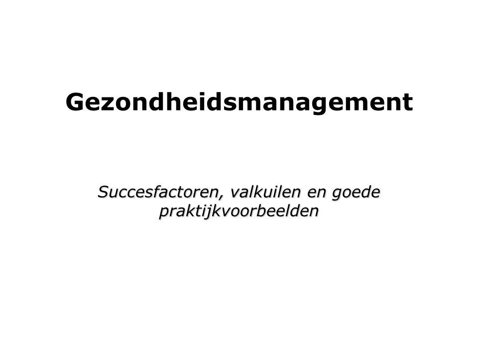 Aandacht voor gezondheid:  Hoeveel organisaties in NL.