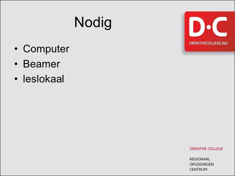 Nodig Computer Beamer leslokaal