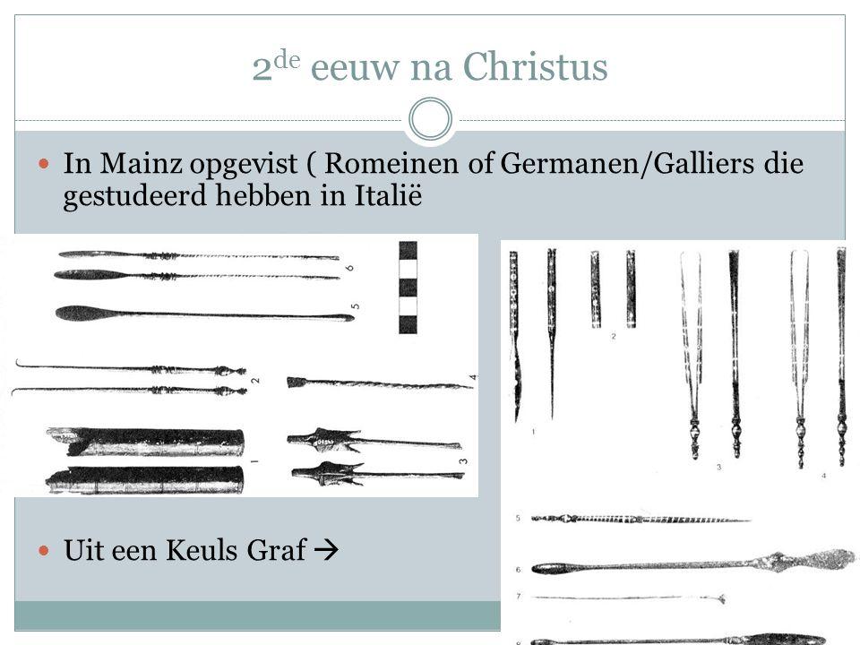 2 de eeuw na Christus In Mainz opgevist ( Romeinen of Germanen/Galliers die gestudeerd hebben in Italië Uit een Keuls Graf 