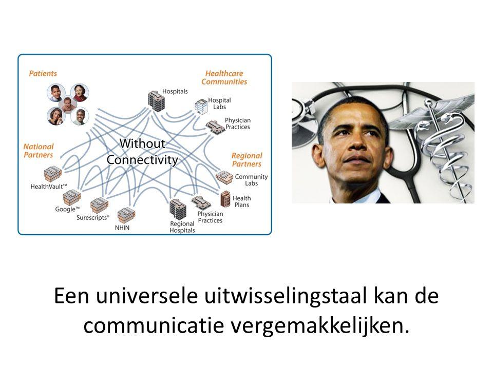 Een universele uitwisselingstaal kan de communicatie vergemakkelijken.