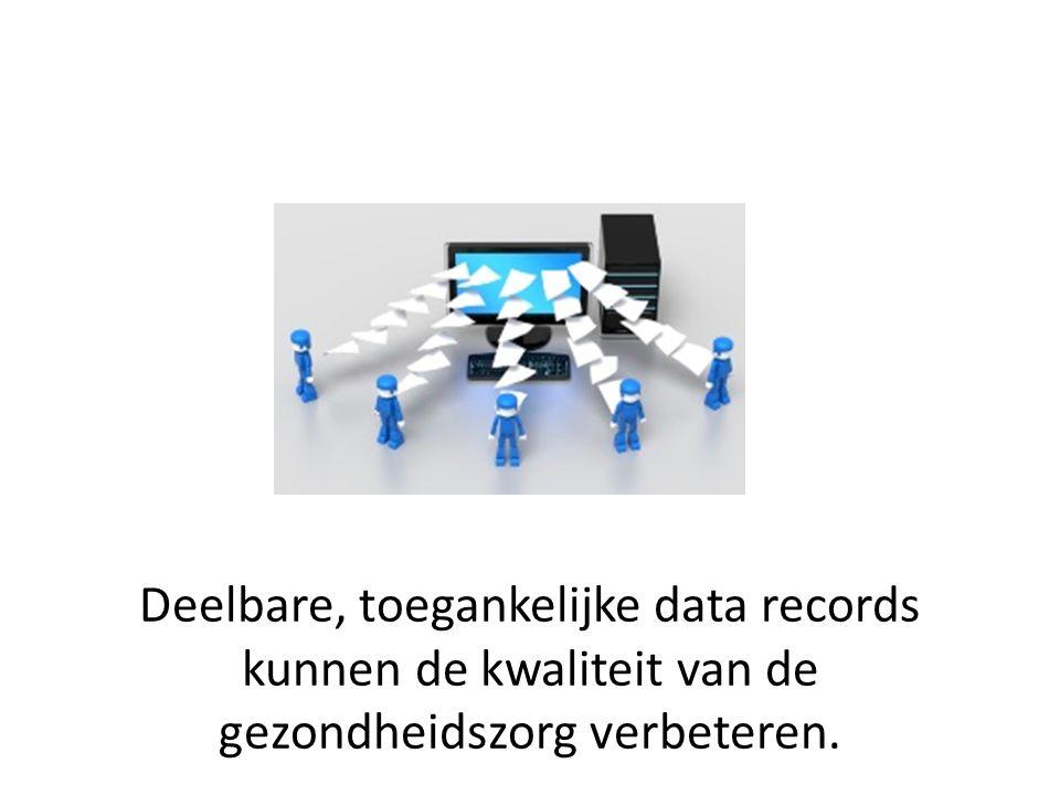 Deelbare, toegankelijke data records kunnen de kwaliteit van de gezondheidszorg verbeteren.