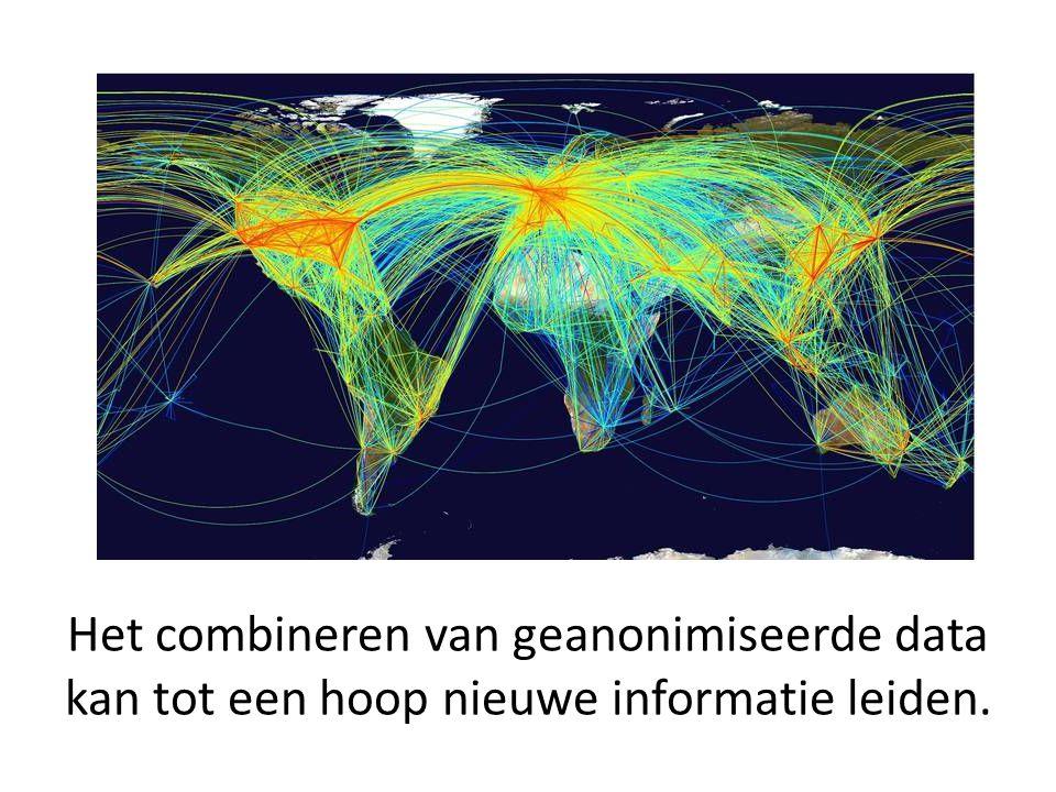 Het combineren van geanonimiseerde data kan tot een hoop nieuwe informatie leiden.