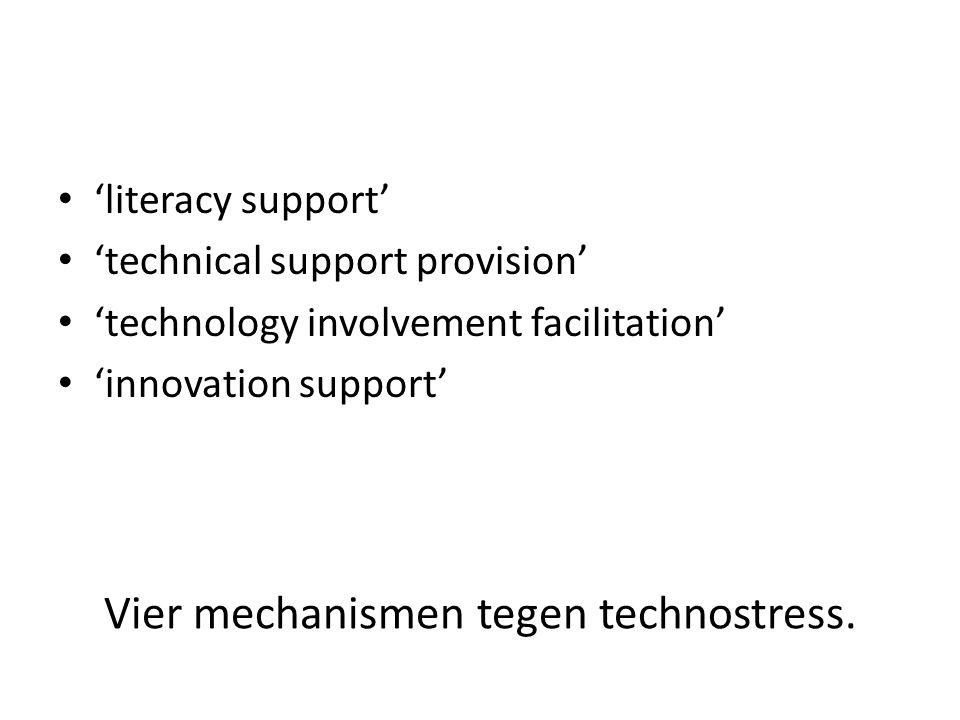 Vier mechanismen tegen technostress.