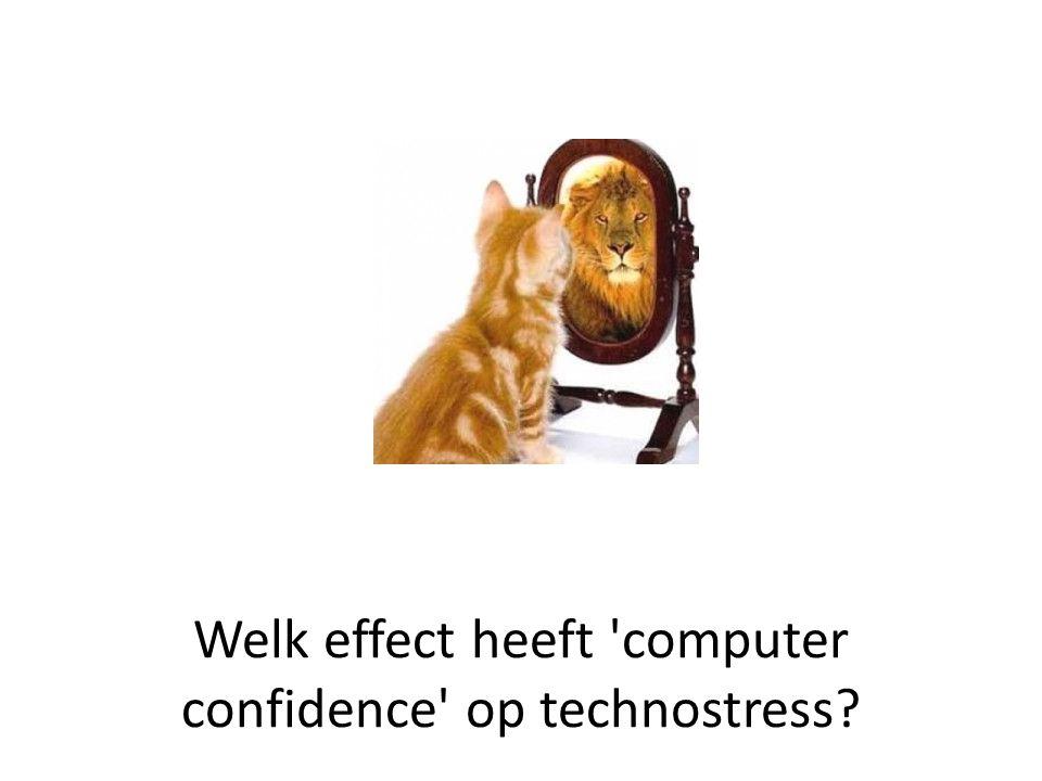Welk effect heeft computer confidence op technostress?