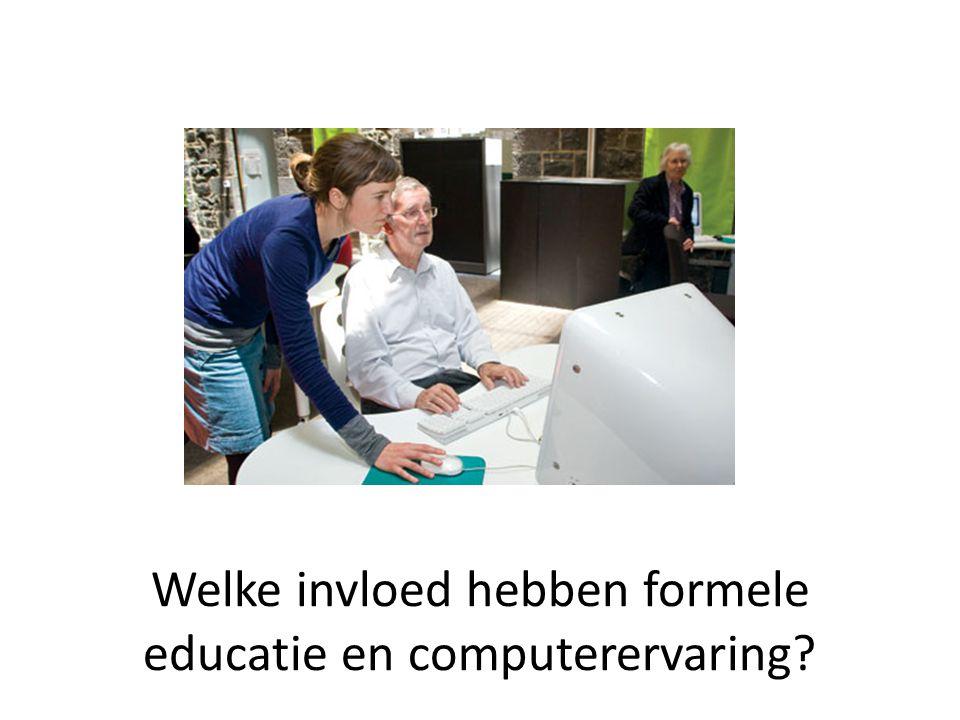 Welke invloed hebben formele educatie en computerervaring